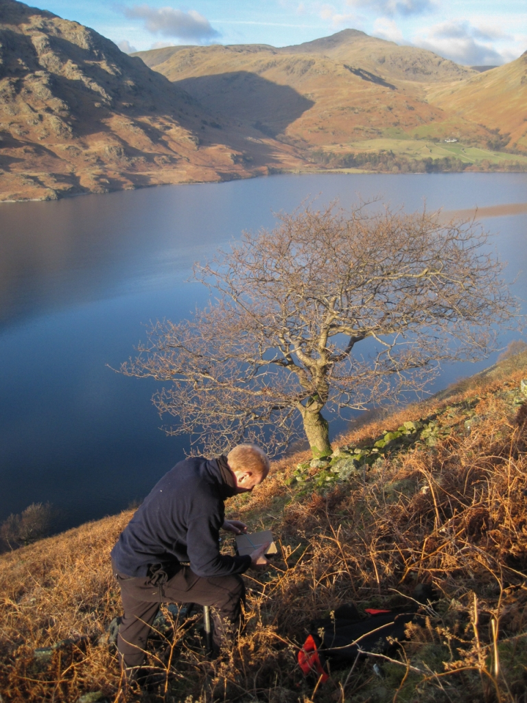 Wasdale Oak being photographed