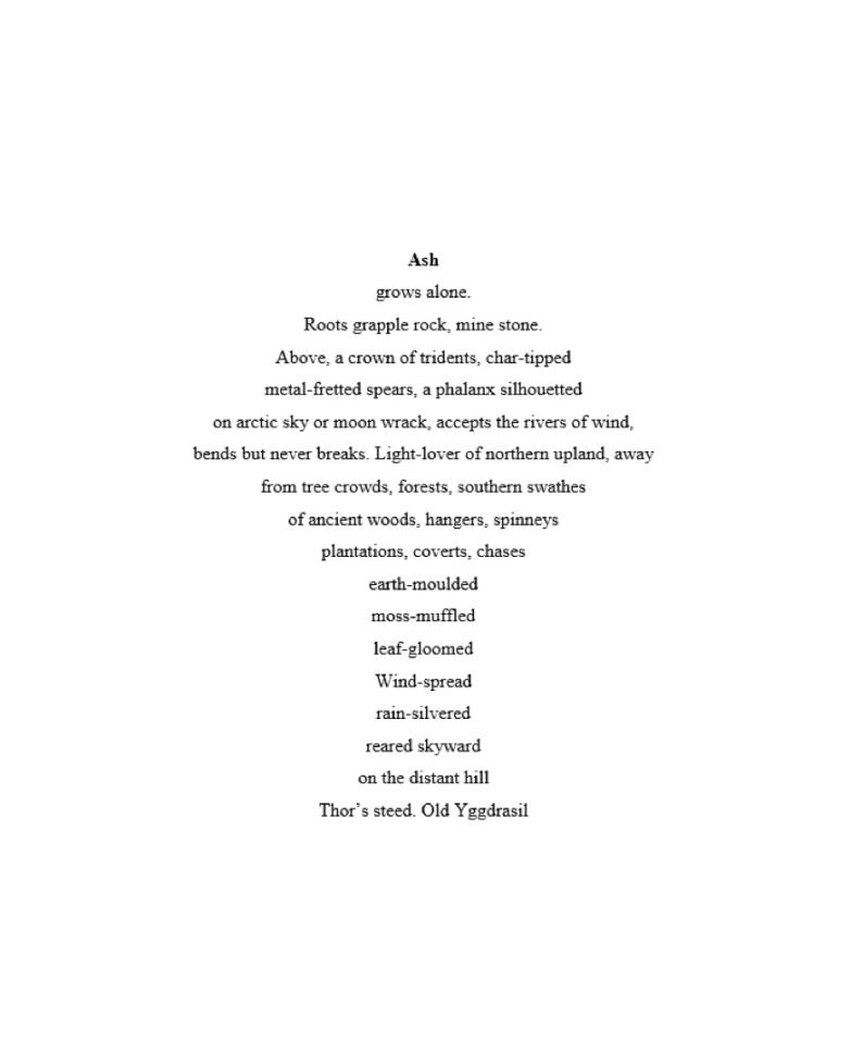 sarah watkinson Ash poem