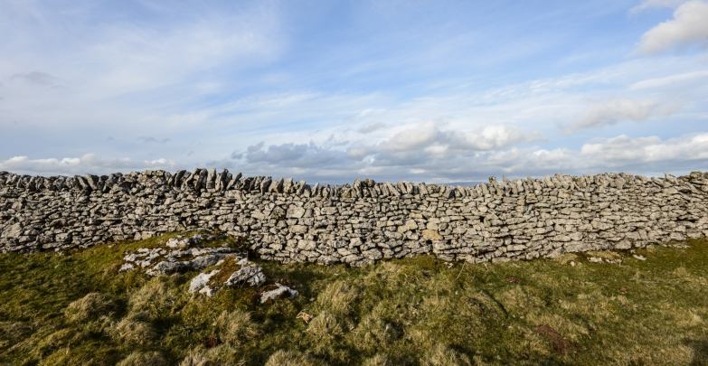 limestone walls on Little Asby Common