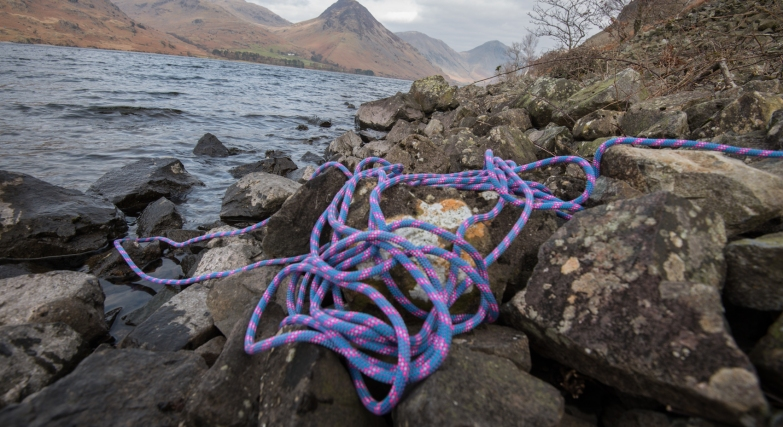 the rope on the shore at wastwater