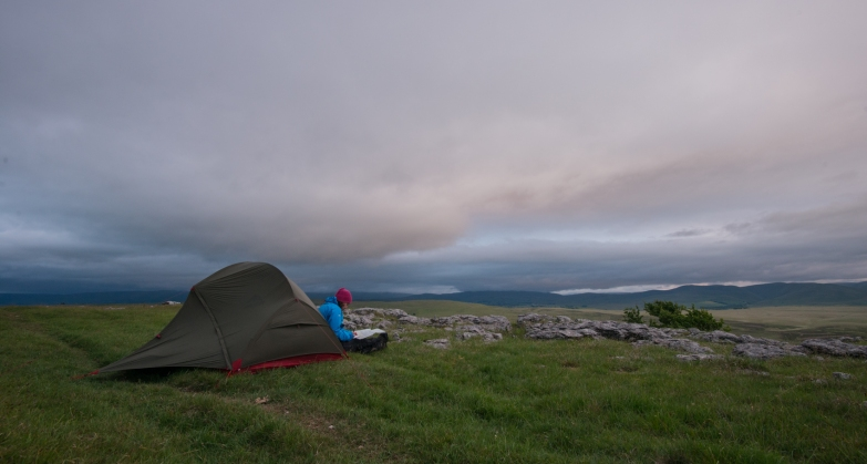 Camping at the Little Asby Hawthorn