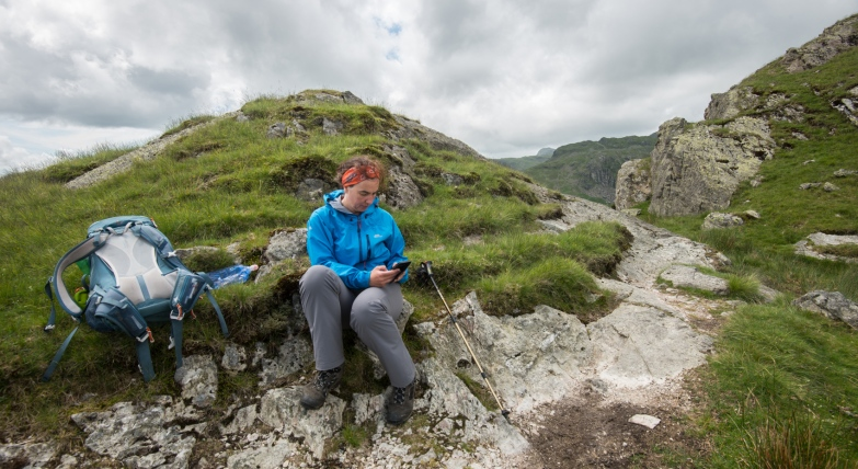 Writing the noon notes on Day 6, beyond Helm Crag