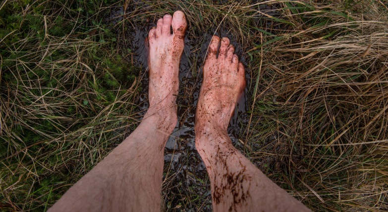 Rob Fraser - wet feet at the Langstrath Birch