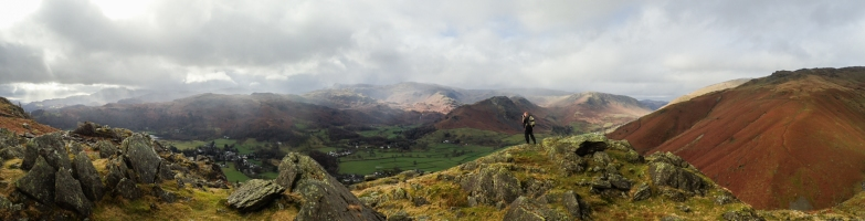 Where's Wally. Rob making pictures of the Grasmere Valley.