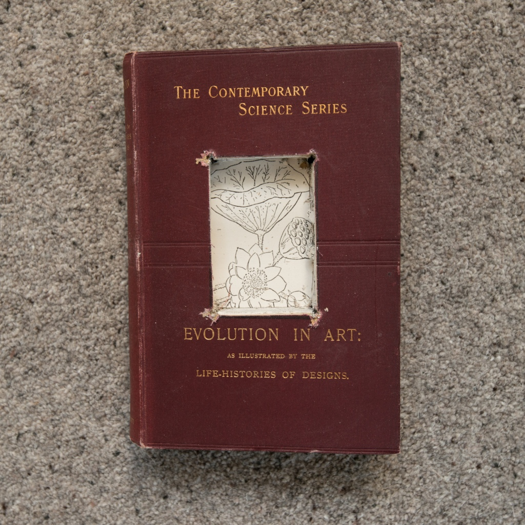 Evolution in Art - Book for a Tree for The Long View Violet Installation