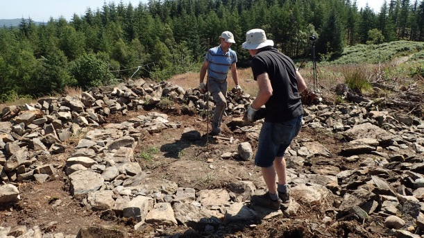 treefold:centre in Grizedale, laying the footings