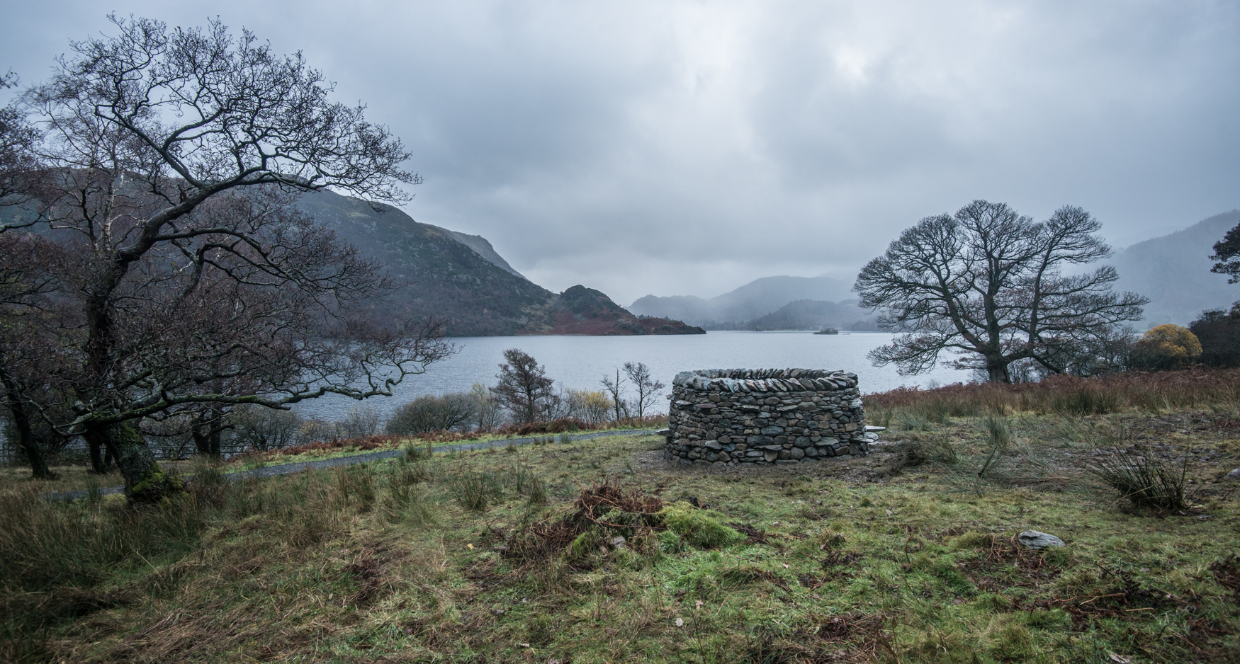 Completed treefold:north overlooking Ullswater