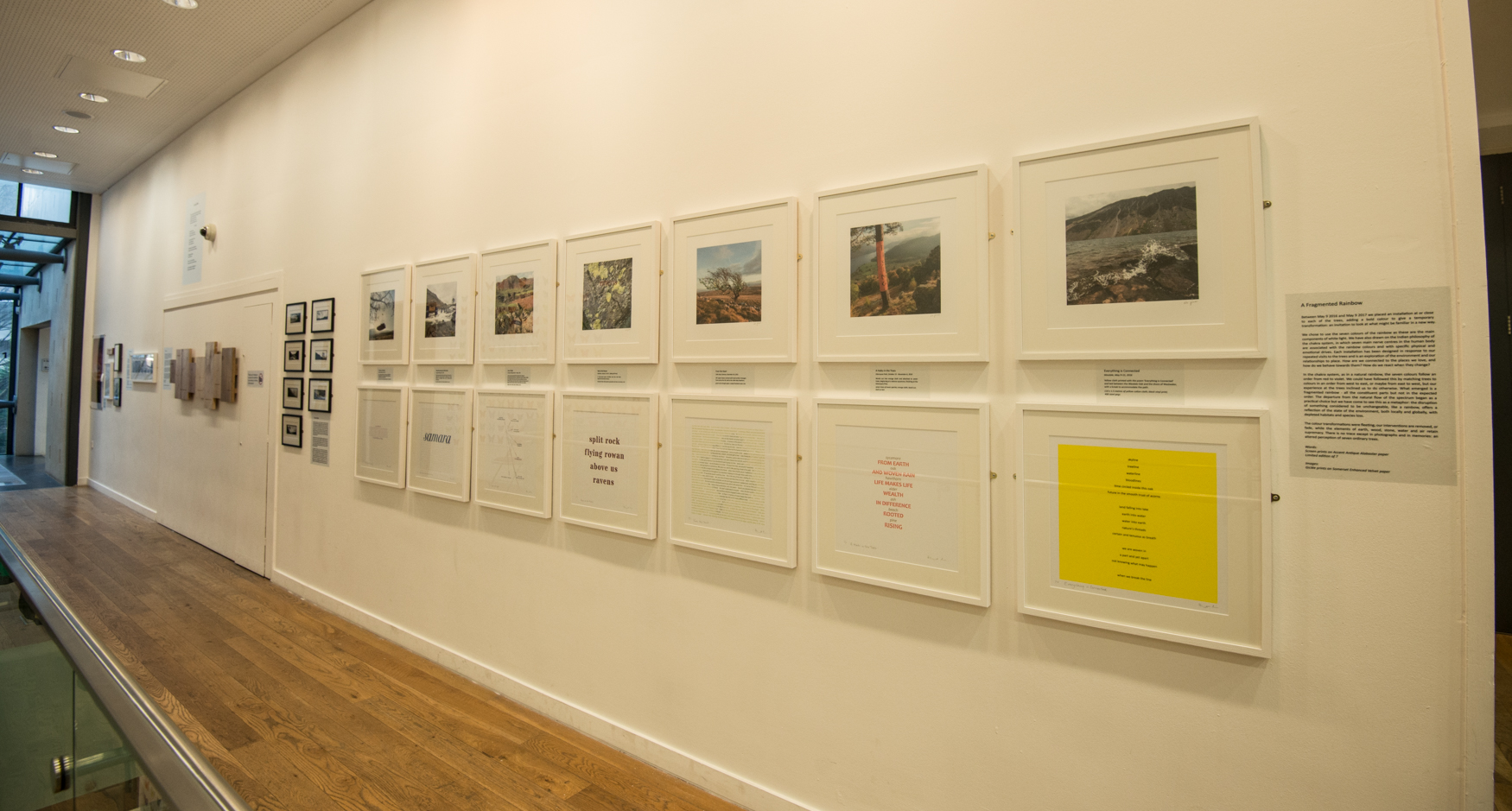 'Fragmented Rainbow' Images and Word Art reflecting the seven colour installations made during two years as part of The Long View