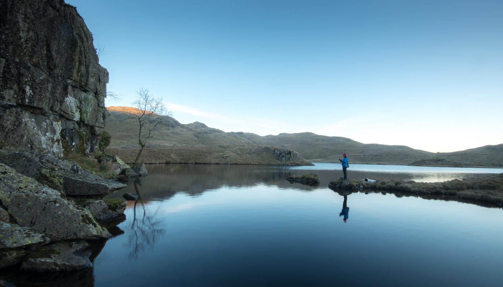 February morning, Angle Tarn, Cumbria